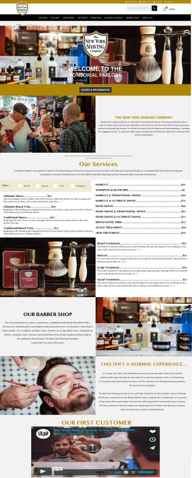 Barber Shop Page